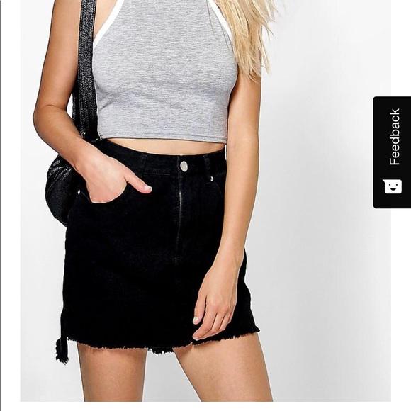 ac58efd97b Boohoo Black denim skirt